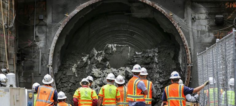 Angeli, the incredible tunnel boring machine in Los Angeles